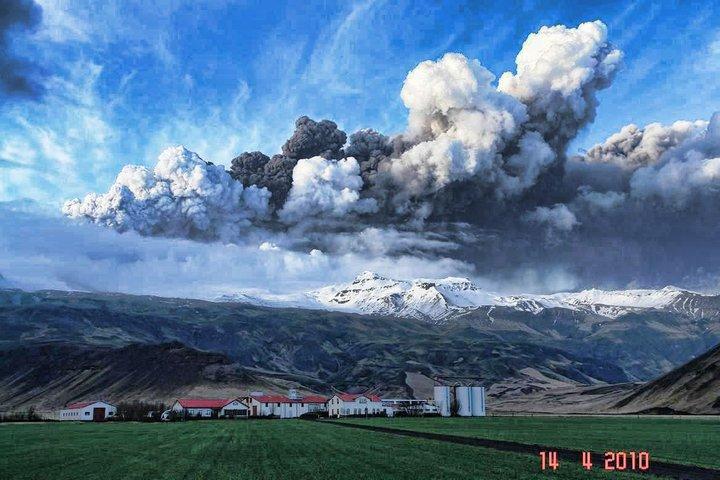 Vistas al Eyjafjallajökull (el volcán impronunciable)