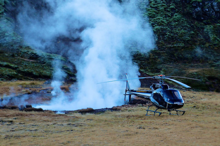 Aventura geotermal en helicóptero
