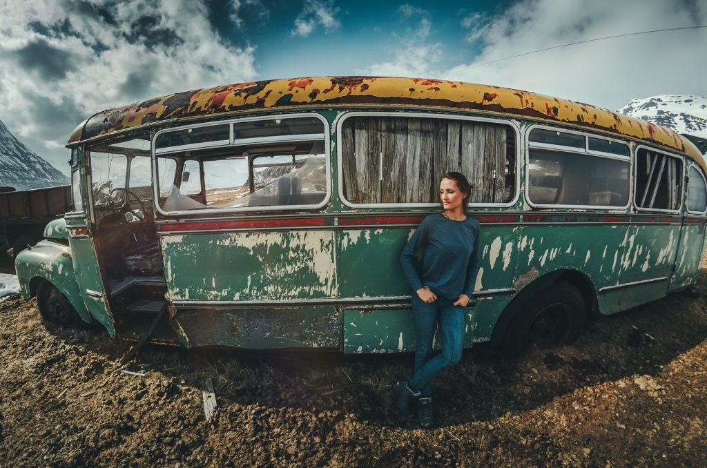 Bus abandonado en Stykkísholmur